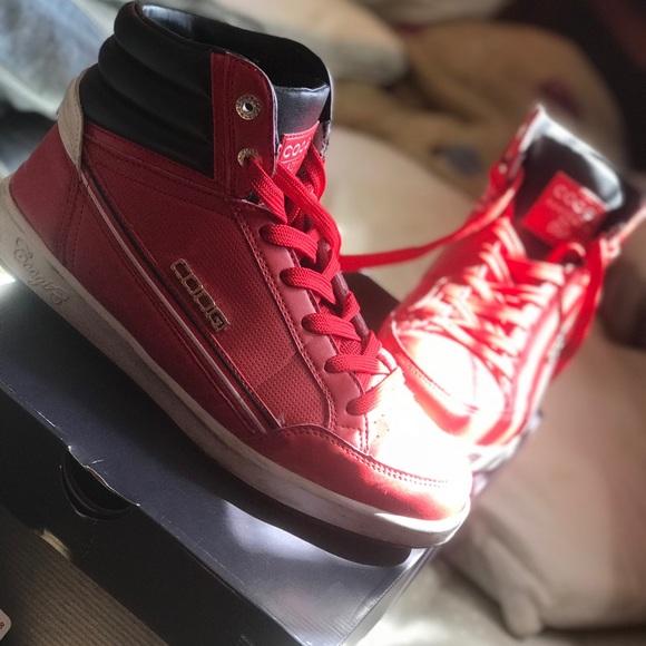 COOGI Shoes | Red Hightops | Poshmark